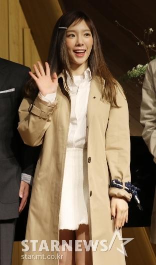 [★포토]태연, '사랑스러운 손인사'