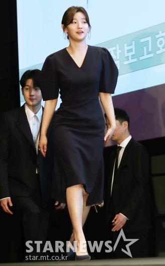 [★포토]박소담, '잘록한 허리 돋보이는 원피스'
