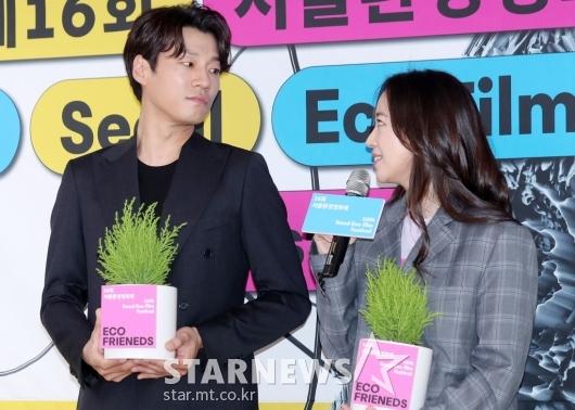 [★포토]이천희-전혜진, '달달한 눈빛 교환'