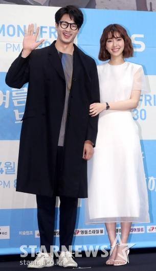 [★포토]김산호-나혜미, '웃음 가득'