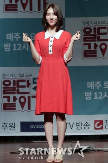 [★포토]김소혜, '눈에 띄는 레드 원피스'