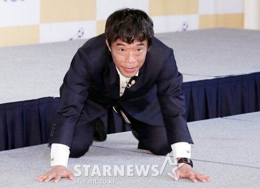 [★포토]심권호 '오랜만에 보는 빠떼르'
