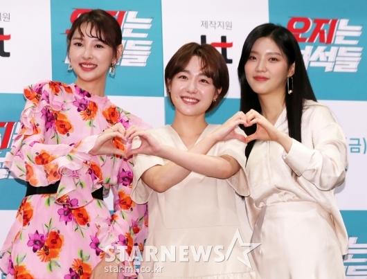 [★포토]뉴썬-소주연-김예지 '셋이서 하트 두개'
