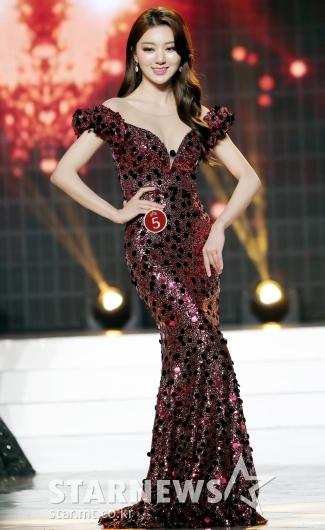 [★포토]드레스 자태 뽐내는 미스코리아 미 이혜주
