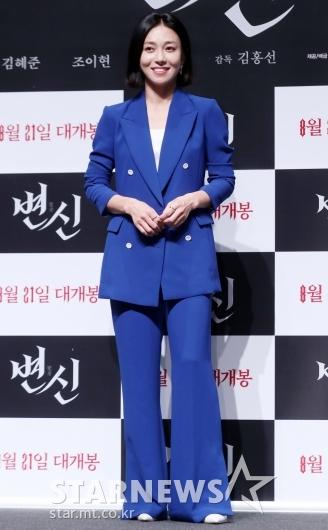 [★포토]장영남 '잘 어울리는 블루 수트'