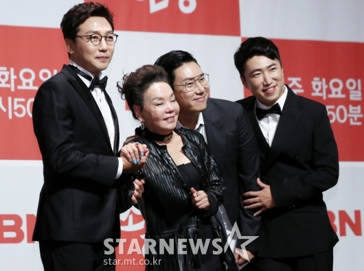 [★포토]김수미, 든든한 세 아들들과 '최고의 한방'