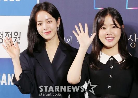 [★포토]한지민-김향기 '핸드프린팅 해요'
