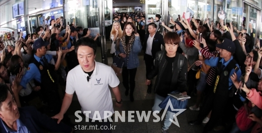 [★포토]있지 '하노이 공항 점령'