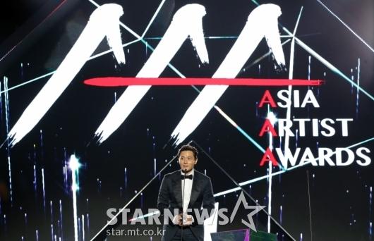 [★포토]장동건, '2019 AAA 베트남' 올해의 배우상 수상