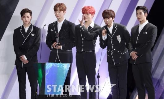 [★포토]뉴이스트 'AAA 아시아 셀러브리티 상 수상'