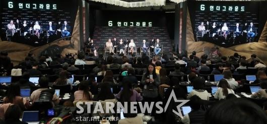 [★포토]한국 취재진 만난 '6 언더그라운드'