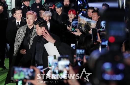 [★포토]엑소 '6언더그라운드' 그린카펫 행사 참석