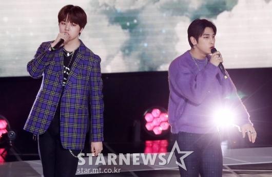 [★포토]남도현-이한결 '엑스원 해체 후에도 빛나는 존재'