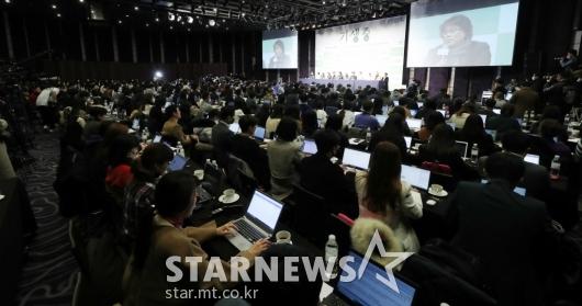[★포토]많은 취재진 몰린 '기생충' 기자회견
