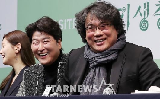 [★포토]송강호-봉준호 감독 '행복한 미소'