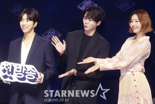 [★포토]윤현민-주우재-한혜진 '예능 기대하세요'