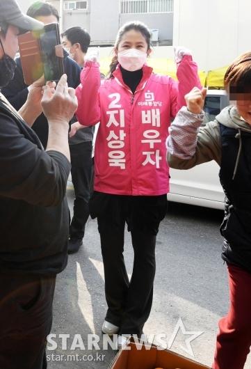 [★포토]선거지원 나선 심은하 '지상욱 화이팅'