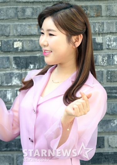 [★포토]송가인 '핑크공주의 하트'
