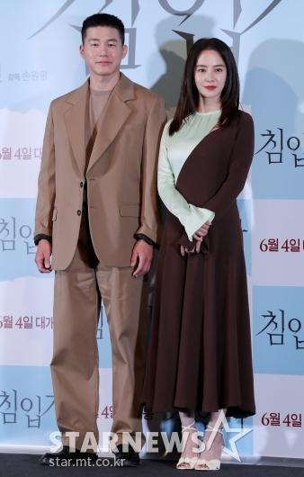 [★포토]김무열-송지효 '스릴러 영화로 만나요'