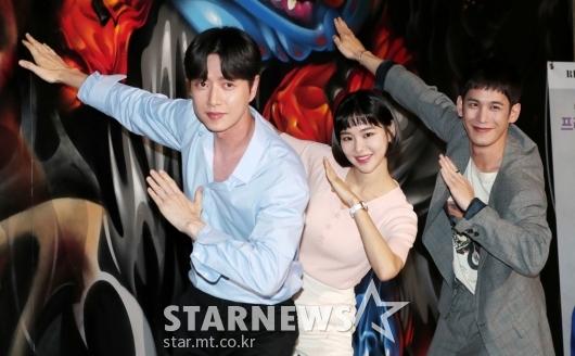 [★포토]박해진-한지은-박기웅 '꼰대가 나가신다'