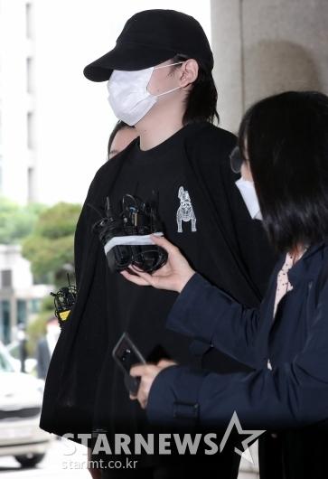 [★포토]얼굴 다 가린 '음주운전 혐의' 노엘