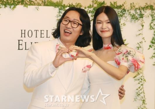 김경진-전수민 '우리 사랑해요'[★포토]