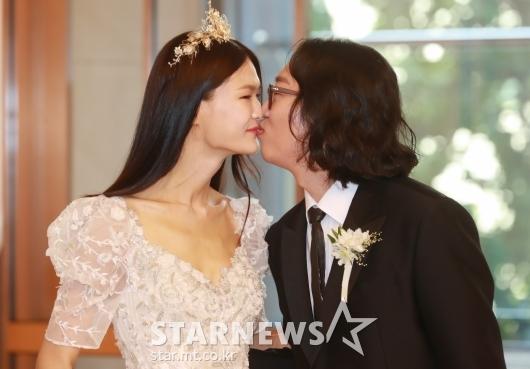 김경진-전수민 '사랑의 입맞춤'[★포토]