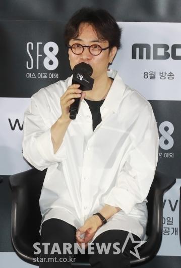 답변하는 '간호중' 민규동 감독[★포토]