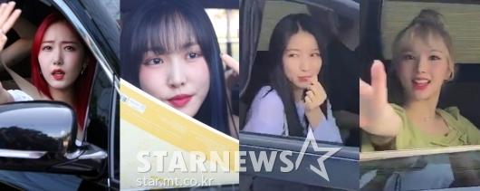 여자친구 '팬들과 반가운 인사' [영상]