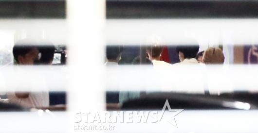 '뉴스9' 출연위해 도착한 방탄소년단 [★포토]