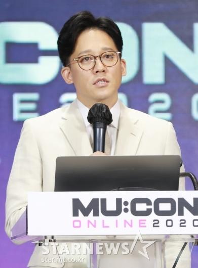 뮤콘 기조연설하는 이성수 SM엔터 대표[★포토]