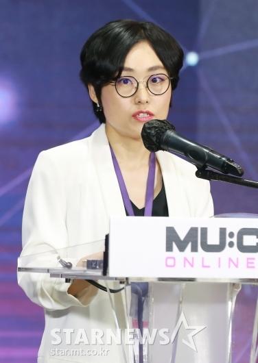 발표하는 김연정 트위터 HQ 이사[★포토]