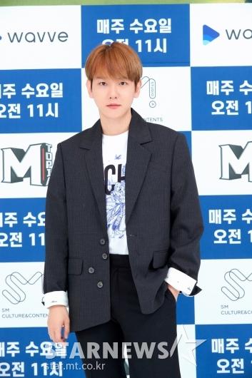 슈퍼엠 백현 '심쿵 눈빛'[★포토]