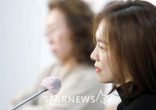 영화 '미나리' 기자회견 참석한 한예리[★포토]
