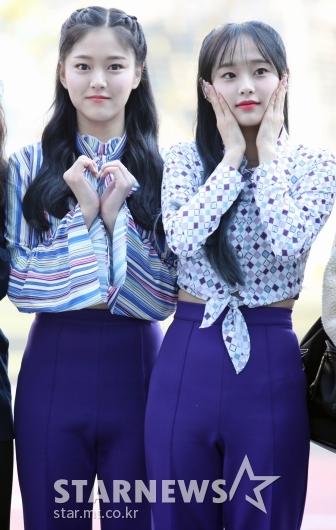 이달의소녀 현진-츄 '귀여운 인사' [★포토]