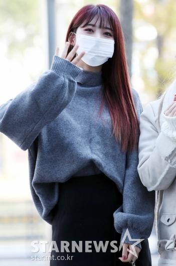 에버글로우 이유 '가을가을한 출근길 패션' [★포토]