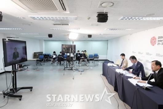 온라인으로 진행된 BIFF 결산 기자회견[★포토]