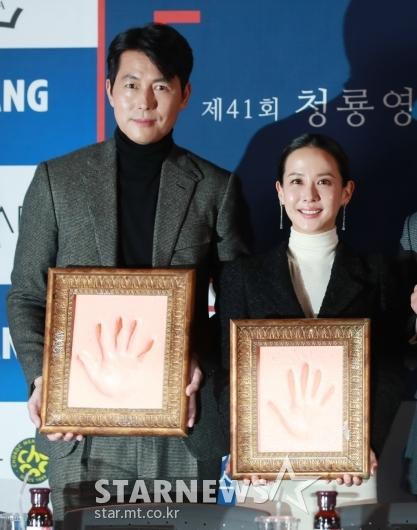 정우성-조여정 '빛나는 핸드프린팅'[★포토]