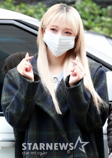 온다 '마스크에 가려진 귀여운 미모'[★포토]