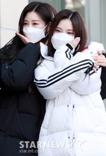 유빈-나린 '저희 예쁘죠~' [★포토]