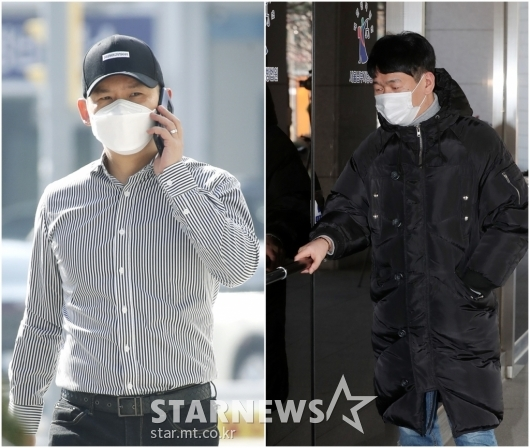 김형인-최재욱 '불법도박장 개설 혐의' 3차 공판 출석[★포토]