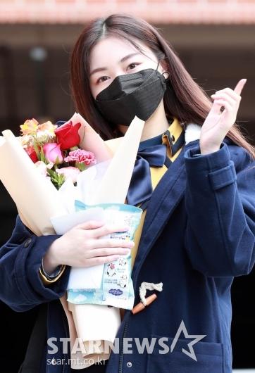 다현 '교복이 잘어울려~' [★포토]