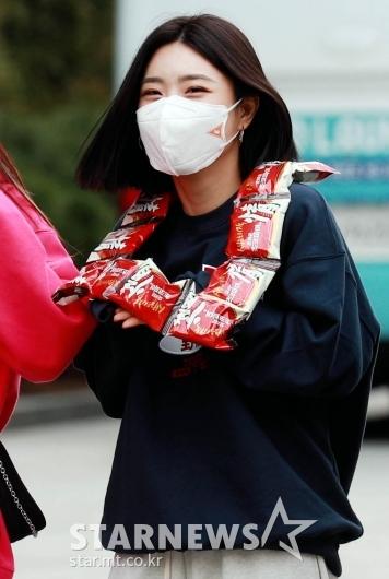 유나 '초코파이 좋아요~'[★포토]