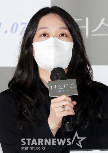 인사말 하는 '더스트맨' 김나경 감독[★포토]