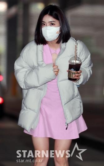 유나 '핑크빛 인사'[★포토]