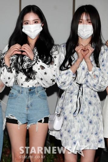 박지원-송하영 '예쁘게 하트~'[★포토]