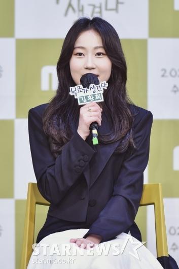 답변하는 '목표가 생겼다' 배우 김환희[★포토]