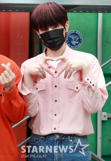 차훈 '핑크빛 하트'[★포토]