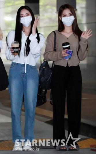 박지원-이나경 '미모가 활짝'[★포토]