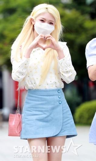에버글로우 온다 '예쁜 금발미녀'[★포토]